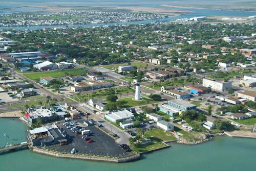 Aerial View of Port Isabel